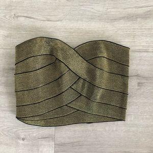Gold Bandage Crop Top Size XS